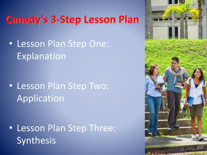 Canady's 3-Step Lesson Plan