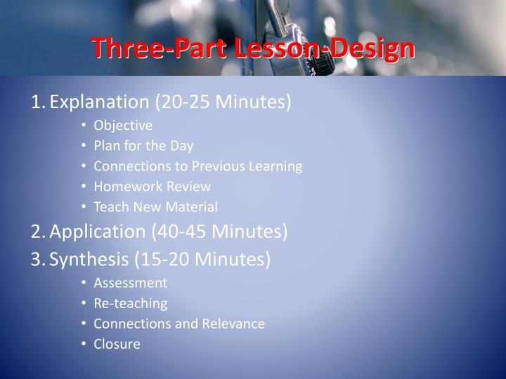 Three-Part Lesson-Design