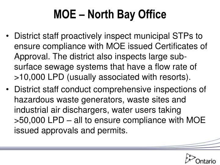 MOE – North Bay Office