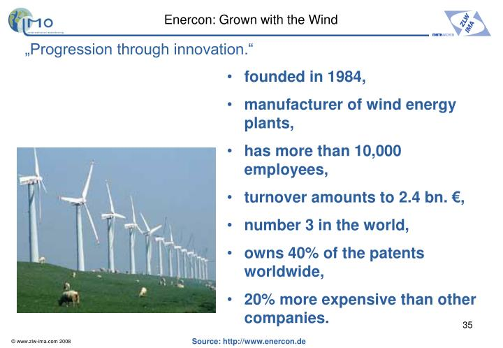 Enercon: Grown with the Wind