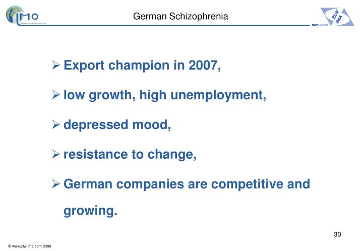 German Schizophrenia