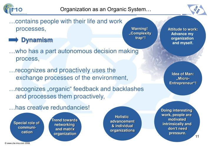 Organization as an Organic System…