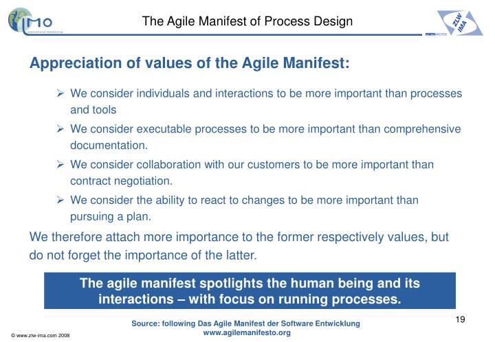 The Agile Manifest of Process Design