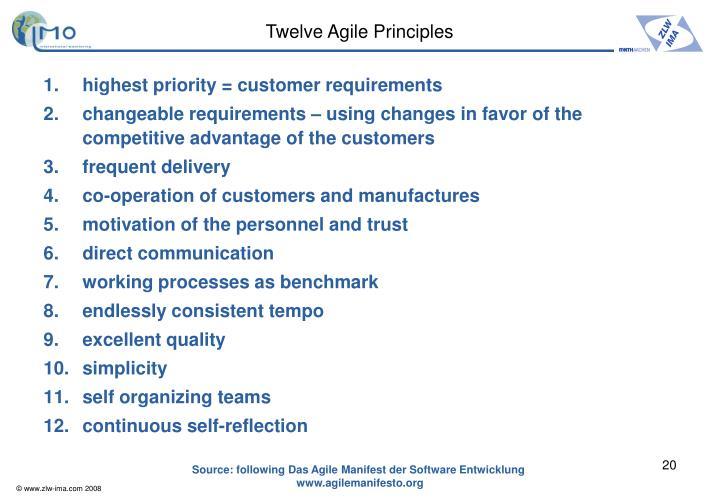 Twelve Agile Principles