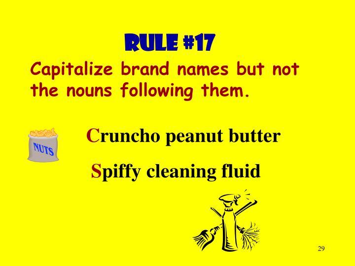 Rule #17