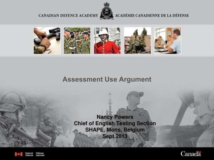 assessment use argument