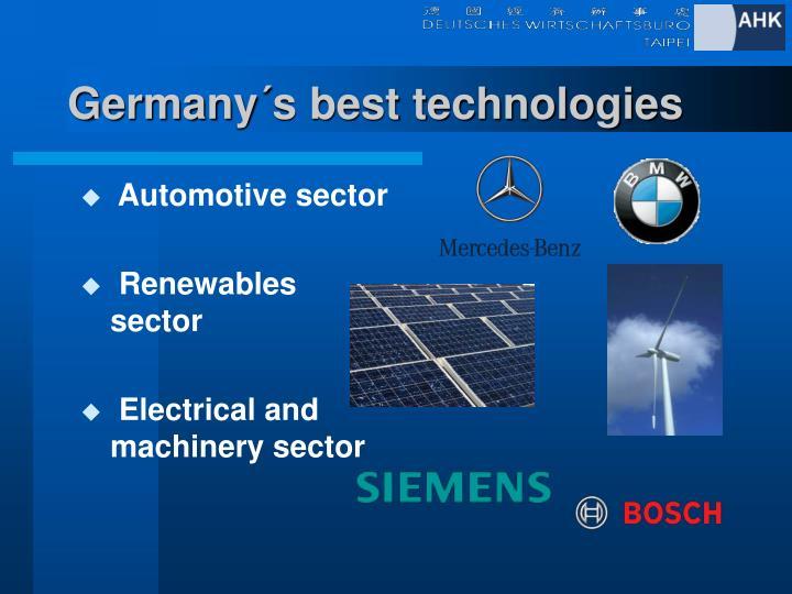 Germany´s best technologies