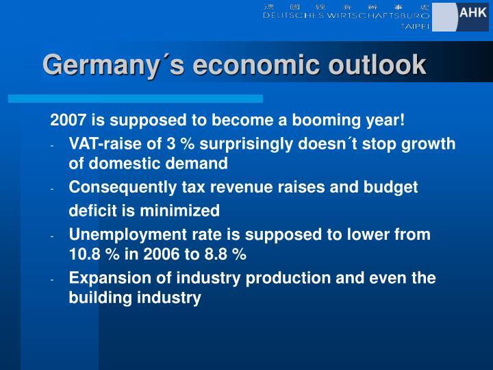 Germany´s economic outlook