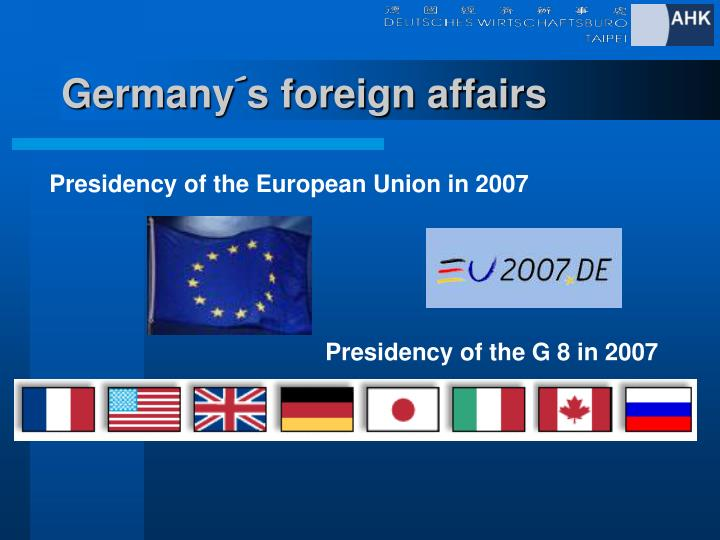 Germany´s foreign affairs