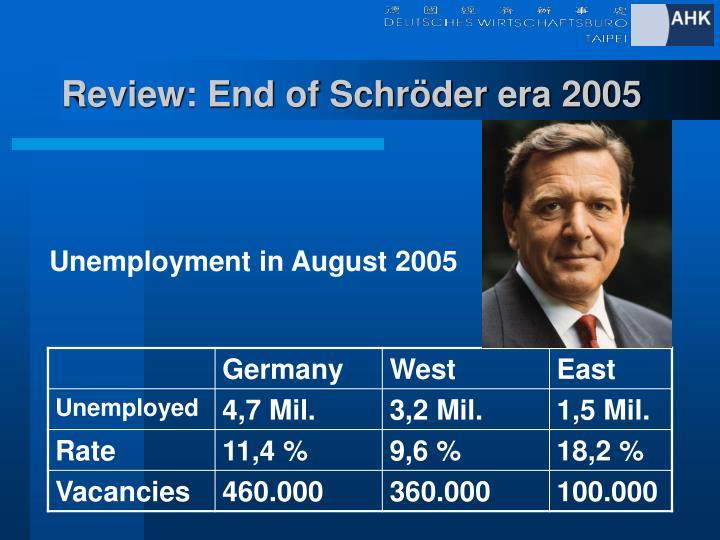 Review: End of Schröder era 2005