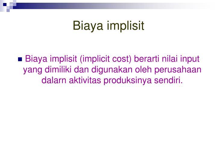 Biaya implisit