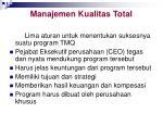 manajemen kualitas total