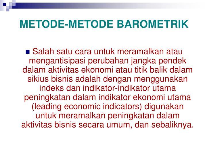 METODE-METODE BAROMETRIK