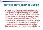 metode metode barometrik