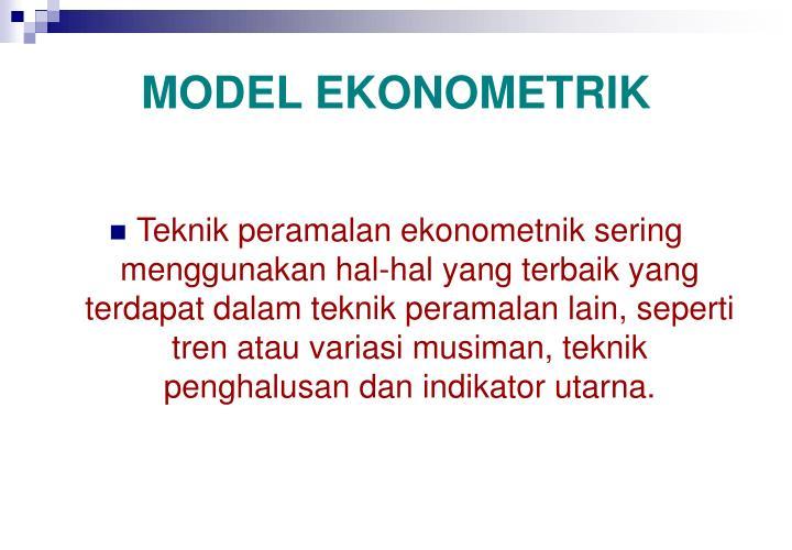MODEL EKONOMETRIK