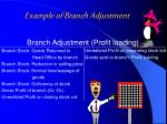 example of branch adjustment