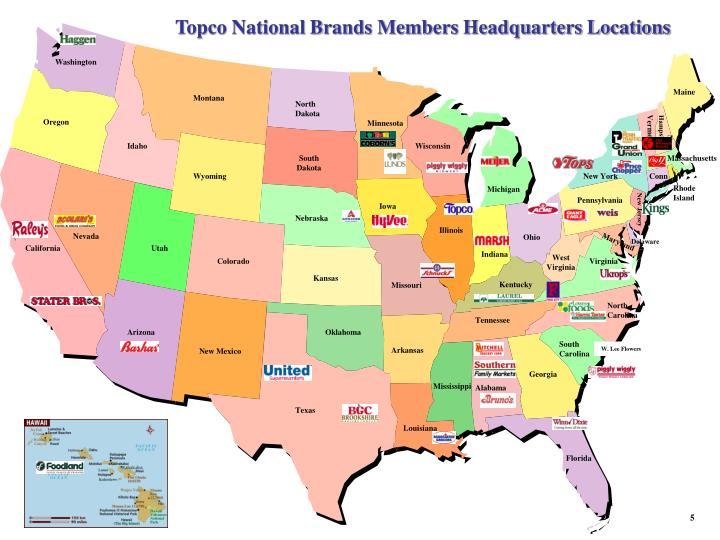 Topco National Brands Members Headquarters Locations