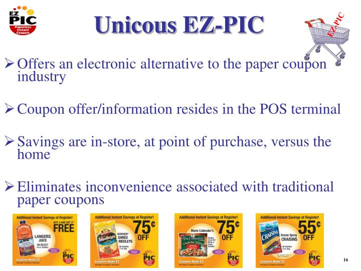 Offers an electronic alternative to the paper coupon industry