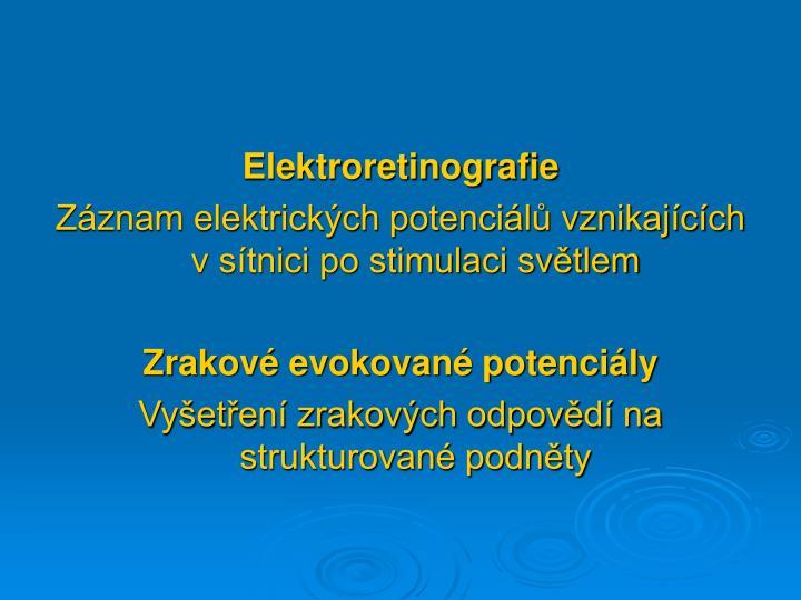 Elektroretinografie