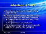 advantages of vopp