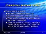 consistency protocols cont