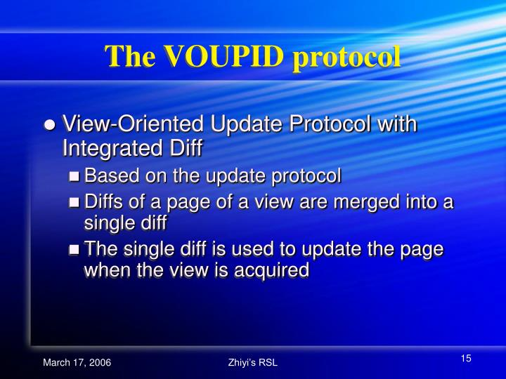 The VOUPID protocol