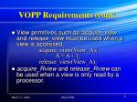 vopp requirements cont
