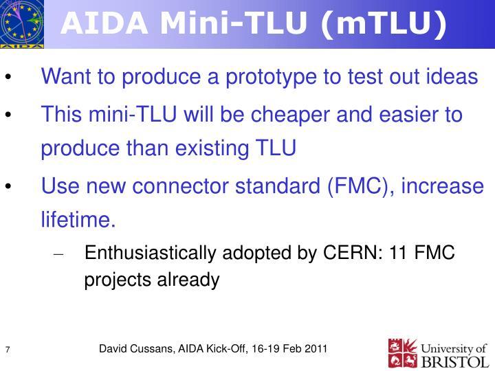 AIDA Mini-TLU (mTLU)