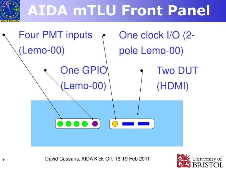 AIDA mTLU Front Panel