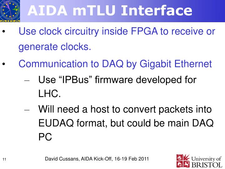 AIDA mTLU Interface
