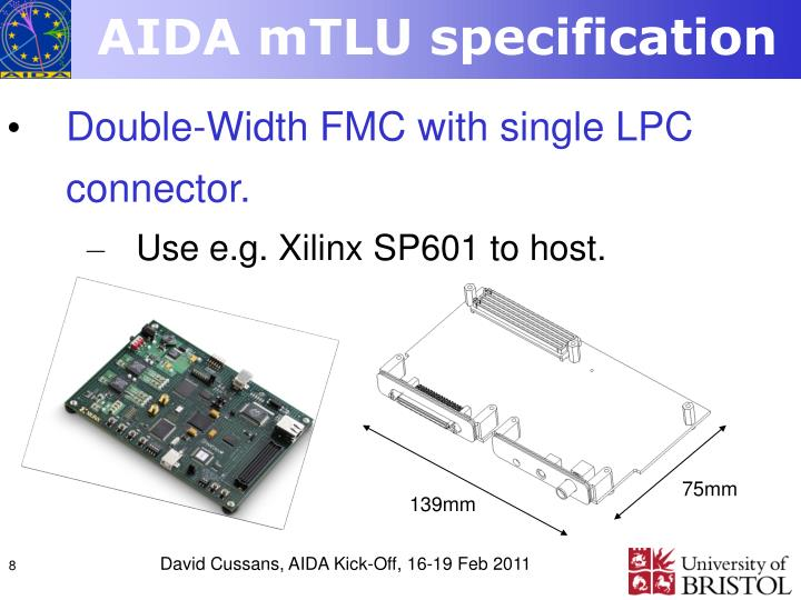 AIDA mTLU specification
