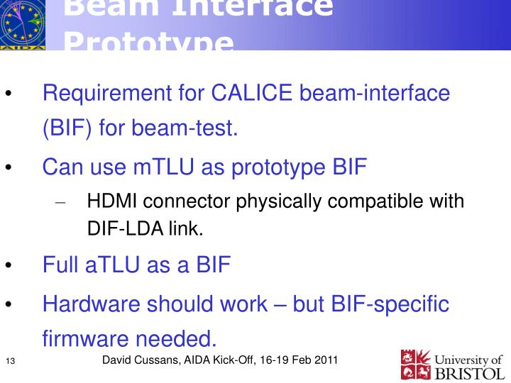 Beam Interface Prototype