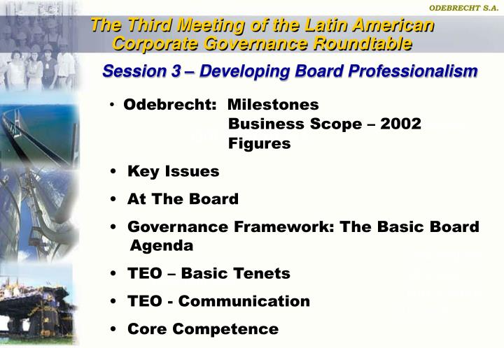 The Third Meeting of the Latin American Corporate Governance Roundtable