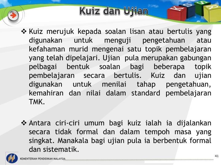 Kuiz dan Ujian