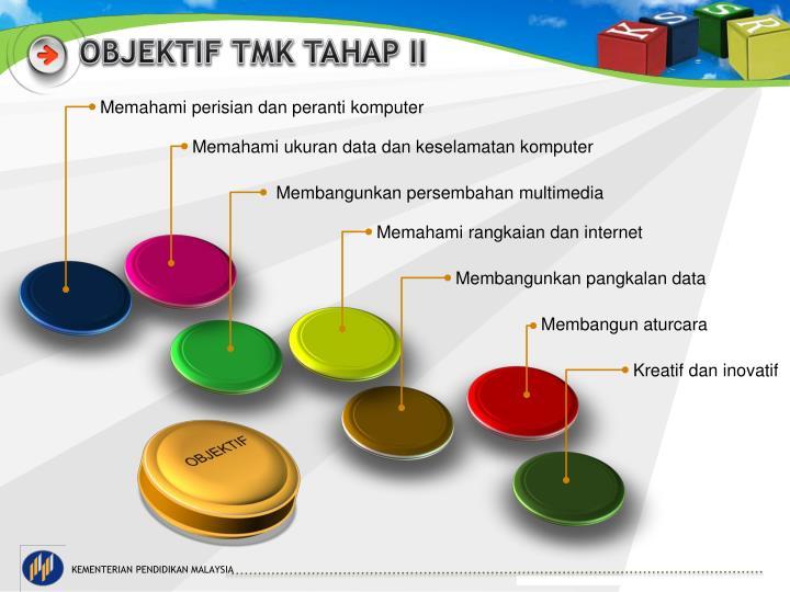 OBJEKTIF TMK TAHAP II