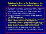 babylon the great is the beast power that protestant america makes an image to