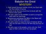 babylon the great mystery