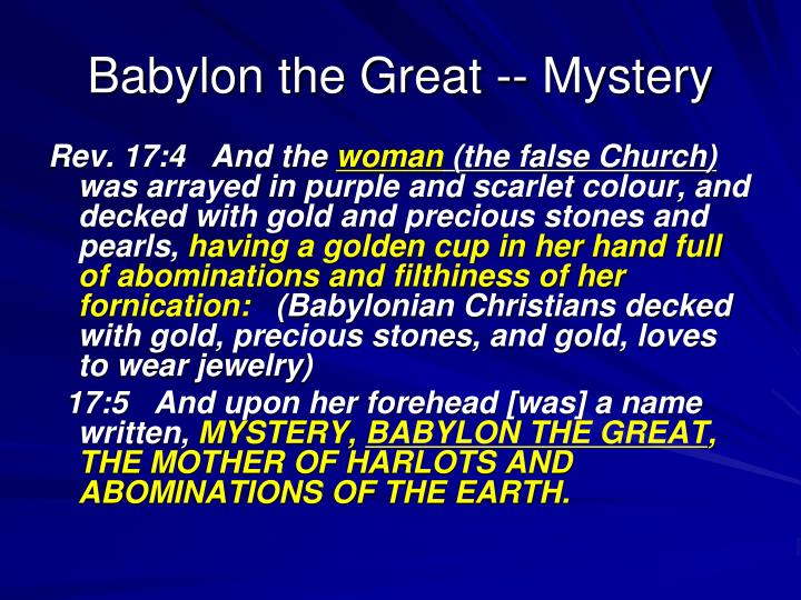 Babylon the Great -- Mystery