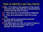 how to identify last day saints