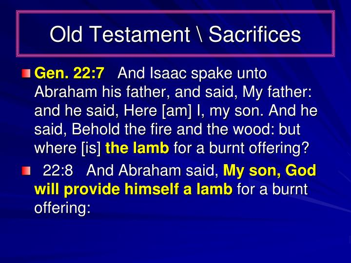 Old Testament \ Sacrifices