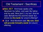 old testament sacrifices