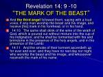 revelation 14 9 10 the mark of the beast