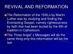 revival and reformation