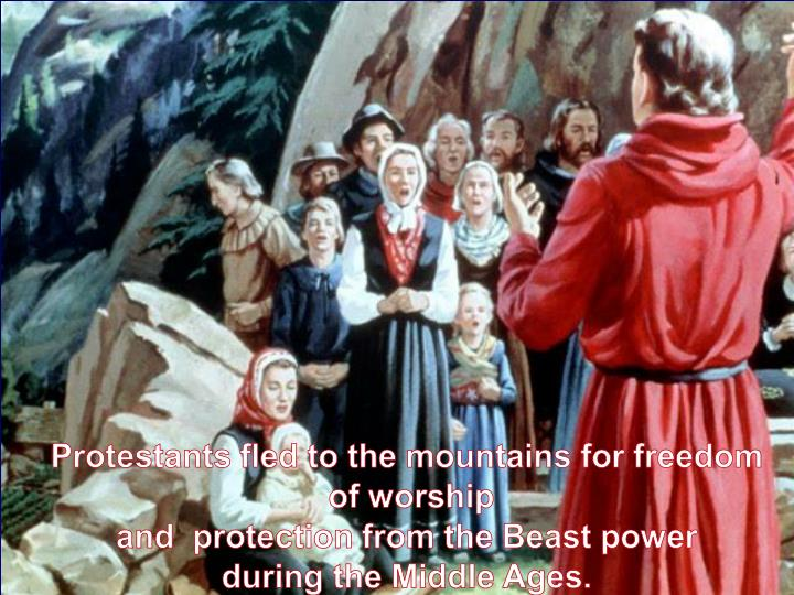 Protestants fled to the mountains for freedom