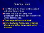 sunday laws