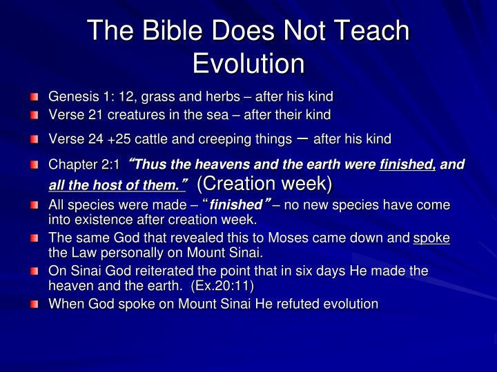 The Bible Does Not Teach Evolution