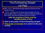 the everlasting gospel via paul
