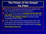 the power of the gospel via peter