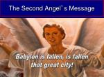 the second angel s message