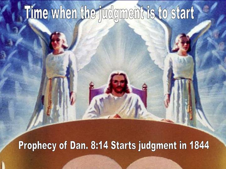 Time when the judgment is to start